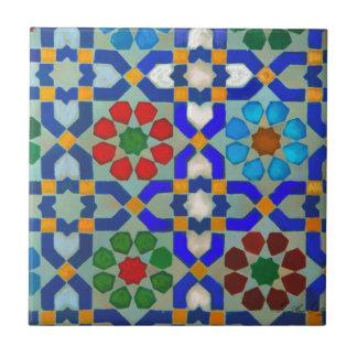 Morroccon Blue Small Square Tile
