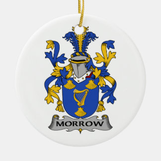 Morrow Family Crest Christmas Ornament