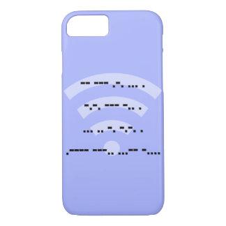 Morse code blue design phone case various models