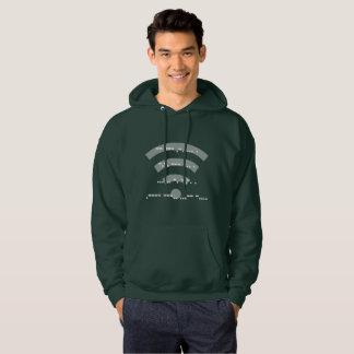 Morse code hooded sweatshirt