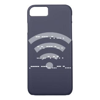 Morse code midnight blue design phone case