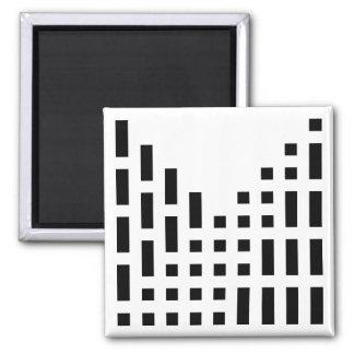 Morse Code Numerals Magnet
