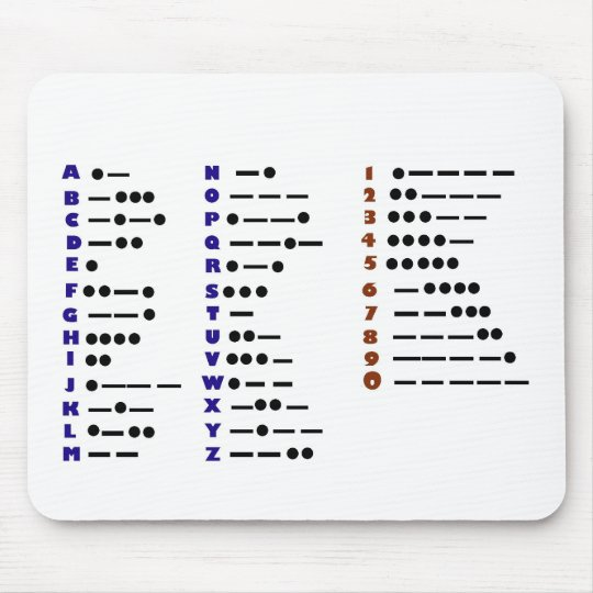 Morse Code or CW Mouse Pad (Customizeable)