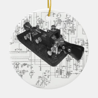 Morse Code Radio Key Schematic Christmas Ornament