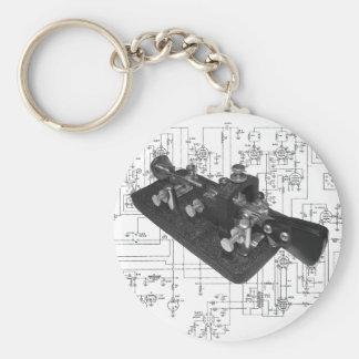 Morse Code Radio Key Schematic Key Ring