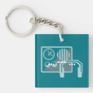 Morse code SOS keyring turquoise