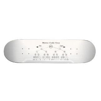 Morse Code Tree Diagram 20 Cm Skateboard Deck