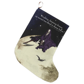 Mortality and the Moon Large Christmas Stocking