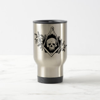 Mortality Square and Compasses Stainless Steel Travel Mug