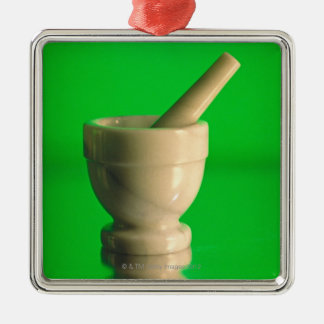 Mortar and pestle christmas ornament