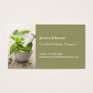 Mortar and Pestle Holistic Therapy Business Card