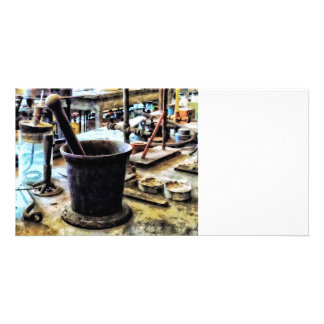 Mortar and Pestle in Chem Lab Photo Greeting Card