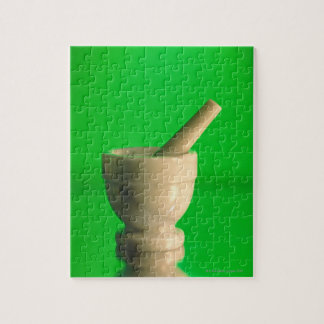 Mortar and pestle jigsaw puzzle