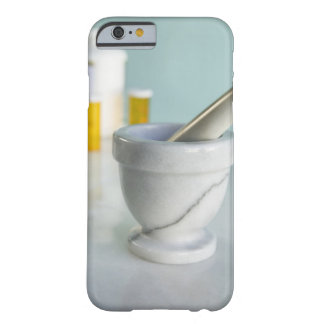 Mortar and pestle, pill bottles in background barely there iPhone 6 case