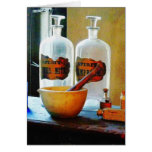 Mortar and Pestle With Bottles Cards