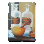 Mortar And Pestle With Bottles iPad Mini Case