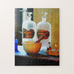 Mortar and Pestle With Bottles Jigsaw Puzzle