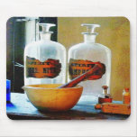 Mortar and Pestle With Bottles Mousepads