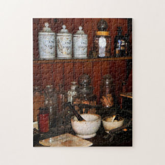Mortar and Pestles in Drug Store Jigsaw Puzzle