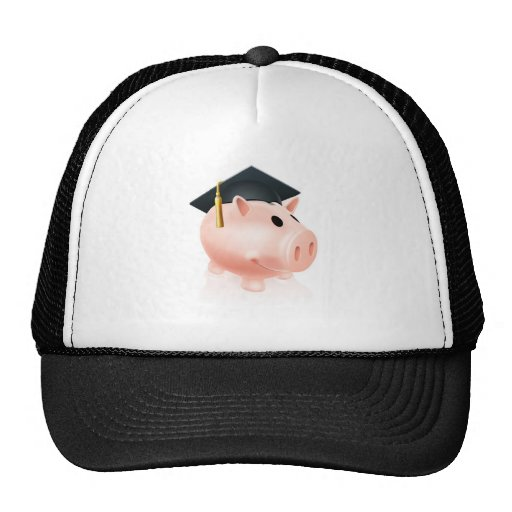 Mortar Board Piggy bank Mesh Hats