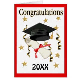 Mortar & Diploma 20XX - Customize Inside Greeting Card