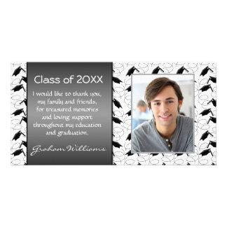Mortar graduation thank you customized photo card