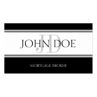 Mortgage Broker Stripe W/W Business Card Templates