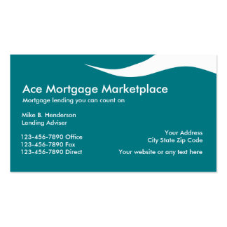 Mortgage Lender Business Cards