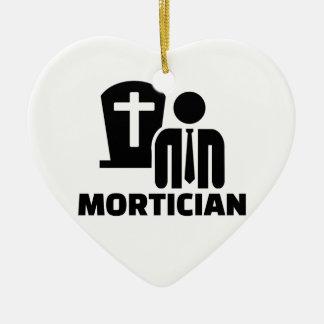 Mortician Ceramic Heart Decoration