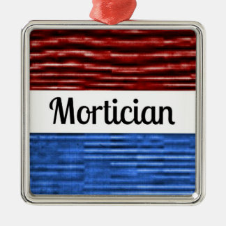 Mortician Patriotic Christmas Ornament