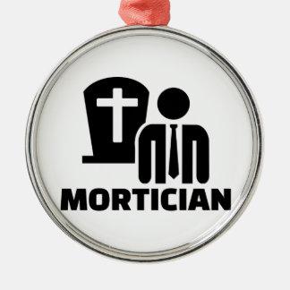 Mortician Silver-Colored Round Decoration