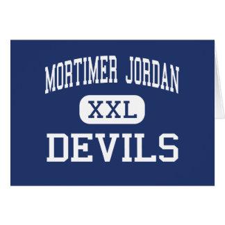 Mortimer Jordan - Devils - High - Morris Alabama Greeting Card