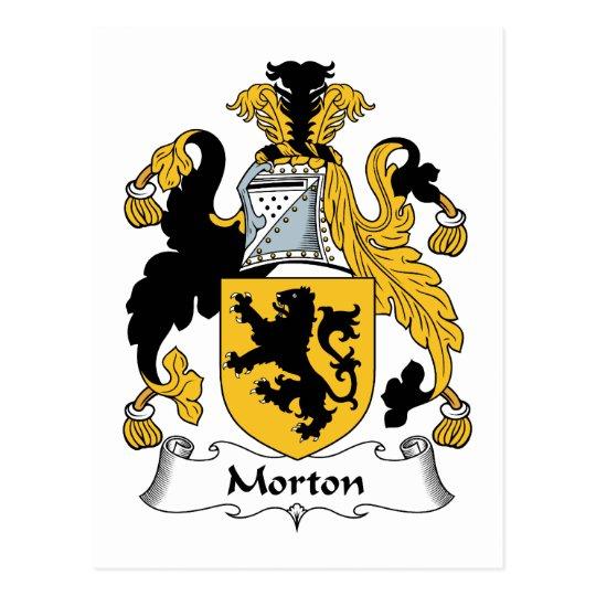 Morton Family Crest Postcard