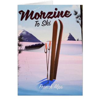 Morzine ,French Alps ski poster Card