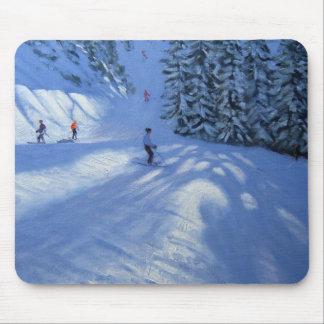 Morzine ski run mouse pad