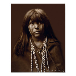 Mosa - A Mojave Woman - Native American Archives Poster
