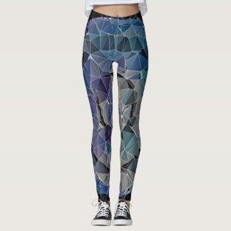 mosaic abstract circle leggings