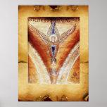 MOSAIC ANGEL , Brown Parchment