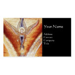MOSAIC ANGEL MONOGRAM Black Business Card