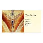 MOSAIC ANGEL MONOGRAM Eggshell cream Business Cards
