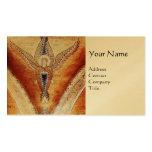 MOSAIC ANGEL MONOGRAM Gold Metallic Business Card