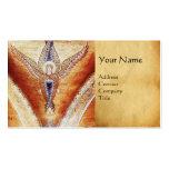MOSAIC ANGEL MONOGRAM Parchment Business Cards