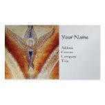 MOSAIC ANGEL MONOGRAM Platinum Metallic Business Cards