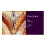 MOSAIC ANGEL MONOGRAM Purple Business Card Template