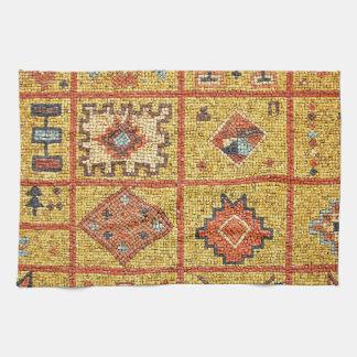 mosaic arab decoration architecture morocco islam tea towel