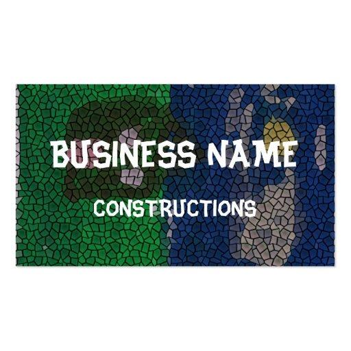Mosaic art business card