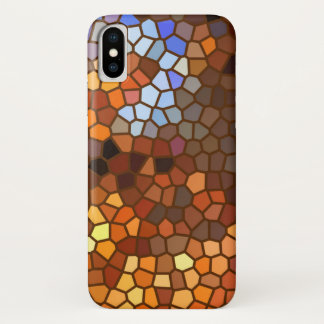Mosaic Autumn Abstract Pattern iPhone X Case