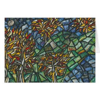 Mosaic Autumnal Tree Greetings Card