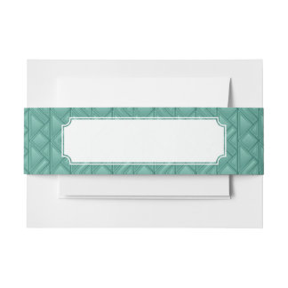 Mosaic Background Invitation Belly Band