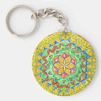 Mosaic Basic Round Button Key Ring